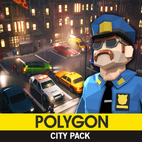 Synty Studios Presents - POLYGON - City Pack. An urban city themed asset pack.