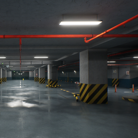 Completely modular solution with 100+ objects, that allows you to build a parking underground with any number of floors.