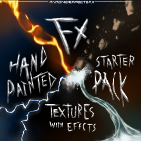 This package includes unique hand painted textures. (Including: Lightning, Water, Fire, Earth, Wind, Ice, Plant and Spark. Guaranteed to help get your next big project on the right track.