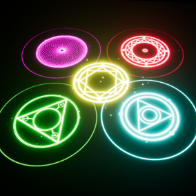 This pack provides a dynamic Magical-Circle-System, it comes with 7 circle textures, one material, one particlesystem and a blueprint class which is fully configurable. The effects are designed for desktop and mobile.