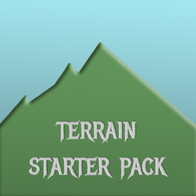 Terrain Starter Pack is a set of textured meshes of trees, rocks, flowers and rocks, heightmaps and a procedural terrain material to help quickly start with terrain development.