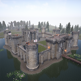 This pack contains a full-fledged environment inspired by the British castles from the early 14th century.