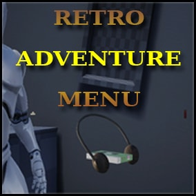 A menu system inspired by retro adventure games from late 90s.