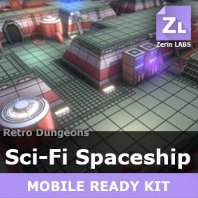 [Sci-Fi Spaceship] is a usefull and versatile full-fledged environment kit of outstanding modular lowpoly assets