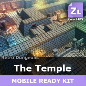 [The Temple] is a usefull and versatile full-fledged environment kit of outstanding modular lowpoly assets