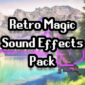 75+ retro style magic sound effects for your games.