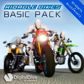 Basic rideable motorcycle system 3 generic bike types