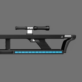 Sci-Fi Rifle with PBR skins & Animations
