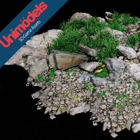 13 River rocks, 19 river plants & 5 trunks by Unimodels