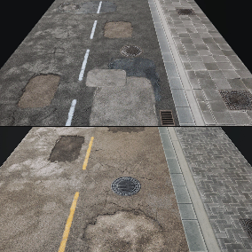 """""""Road"""" - Materials and Decals"""
