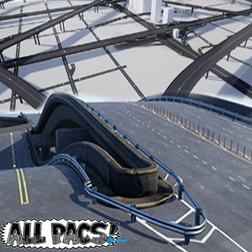 A non-deforming spline-based road building tool that allows you to generate and snap together various road styles via blueprints and a collection of static meshes. Includes intersections, highways, curbs, overpasses, ramps, junction etc. ALLPACS