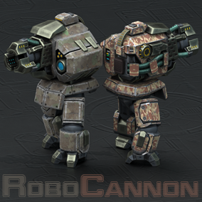 Combat walking robot for your games.