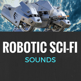 138 high quality robotic futuristic sounds, including voices, special guns, mechanical drills, electronic devices and footsteps