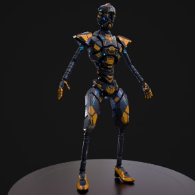 Low-poly model rigged to Epic skeleton.