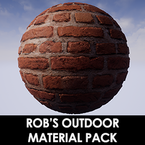 Six 4K Outdoor Themed Materials created in Substance Designer for Physically Based Rendering in Unreal Engine 4.