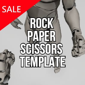 Rock Paper Scissors First/Third person game full template