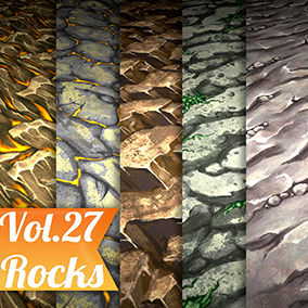 5 Hand painted tiled textures. Great for desktop or mobile games.