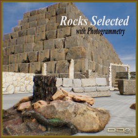 Selection of rocks made with photogrammetry. Pure realism.