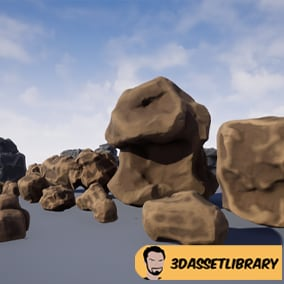 A Rock asset pack complete with 18 unique assets for Unreal Engine 4.20+