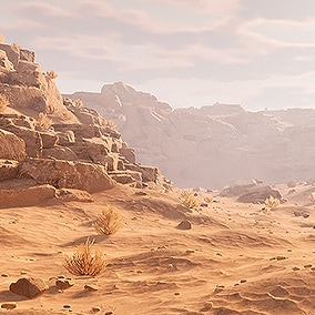 High quality desert environment