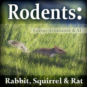 Add interactive Rodents (Rabbits, Squirrels, & Rats) to your game environments. Built in enemy avoidance, drag and drop easy.