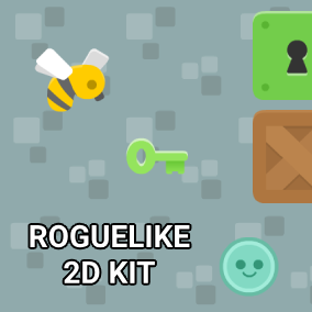 The Roguelike 2D Kit is an easy to use template for creating top down roguelike type of games in 2D! The template is created using Blueprints, is fully documented and allows easy customization.