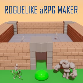 A roguelike action RPG template from AI to title screen. Make an entire game with data tables!