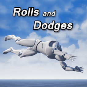 A set of 18 third person dive roll and dodge animations.