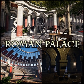 A high quality Roman Palace, Arena and Dungeon including props, modular assets, optimized maps and 4K materials.