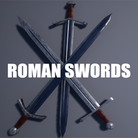 The set contains 30 models of Roman swords and includes 2 sets of textures