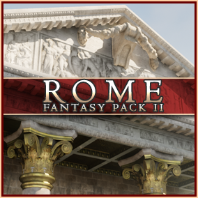 Rome Fantasy Pack II is a complete, Triple-A environment pack set in classical Rome. Create the most gorgeous Roman-inspired interiors and exteriors with just a few blueprints.