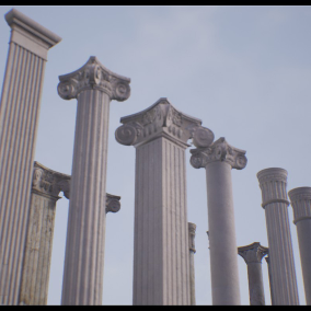 28 different styles of Rome/Greek style pillars.