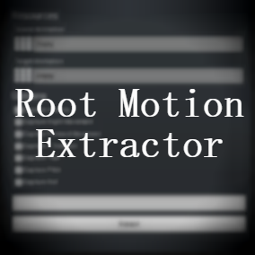 Extract root motion data and transfer it to in-place animation.