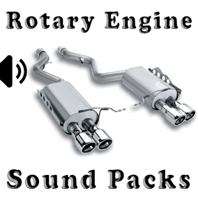 Rotary Engine Sound Packs asset contain four rotary engine sound packs.