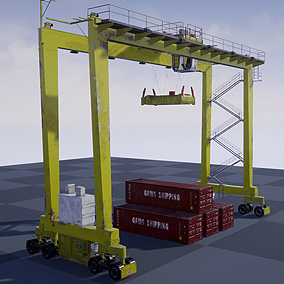 Animated crane with PBR textures