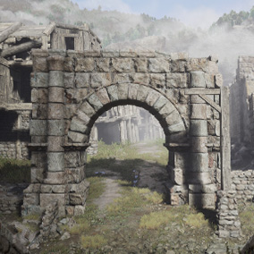 A forgotten fantasy city, turned into deserted ruins.