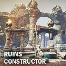 Ancient ruines constructor where you find a lot of different elements