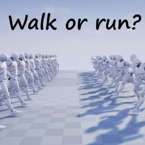 Walking and running in various styles