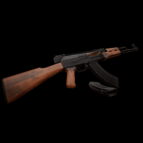 AAA quality AK with VFX, 4K textures, animations, attachments and sounds.