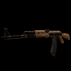 AAA quality AK with VFX, 4K textures, animations, and sounds.