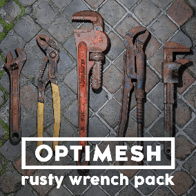 5 high quality wrench models; detailed 4K PBR materials; multiple color options; 12 variants total
