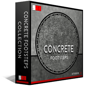 Studio 23's Concrete Footsteps Collection is one of the most in depth libraries for footsteps of its type on the market, including 308 high quality .wav files (Approximately 1700 individual sounds)