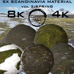 5 Super Realistic Scandinavia Materials for all platforms. All Textures have their own 8K,4K,2K and 1K version and ready for every kind of project.