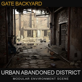 Gate to the destroyed backyard. It contains photogrammetry assets. After adjustments could be use in UE5.