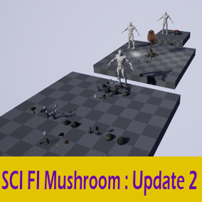 6 Mushroom with 5 LOD step, can be used in a SCI FI and Fantasy Environment.