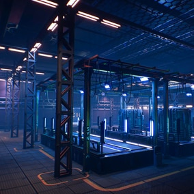Sci-FI modular environment, rooms, reactor, assembly lines. Everything is optimized and ready for use in your projects