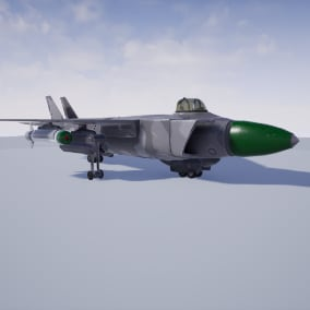Fighter Jet capable of flying, and using weapons