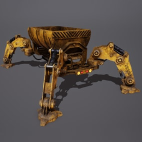 ***Included inside Sci Fi Characters Mega Pack Vol 2 and upcoming Sci Fi Robots Pack Vol 2*** Here is a mining wagon droid. This automated robot is used in all types of mines all over the galaxies.