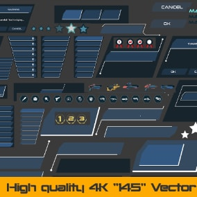 "High-quality 4k ""145"" Vector UI kit"