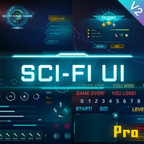 This is a complete set of turquoise sci-fi UI asset package, including many practical sci-fi panels, windows, buttons, circles... It can be used in various sci-fi games, VR / AR games, virtual simulation projects, etc.